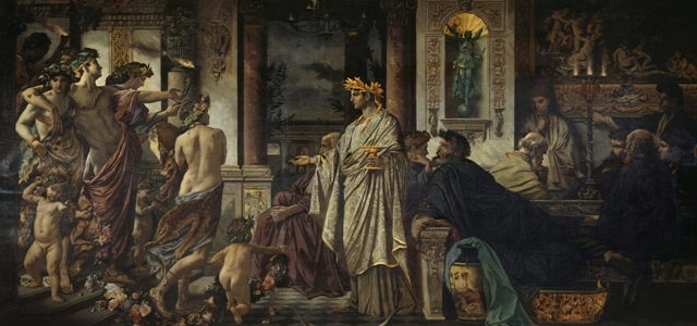 Anselm Feuerbach. From 1871 until 1874. Plato's Symposium. Alte Nationalgalerie. (Wikipedia Commons)