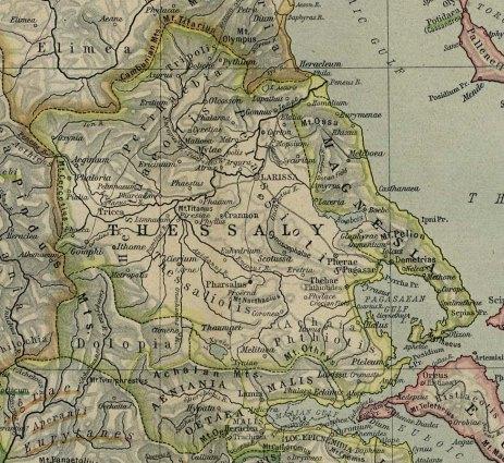 Εικόνα 1: Part of Reference Map of Ancient Greece. Northern Part. Shepherd, W. R. 1911. Historical Atlas. New York: Henry Holt and Company (http://goo.gl/g8GsK).