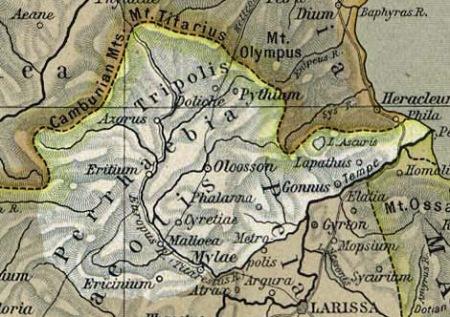 Χάρτης Περραιβίας
