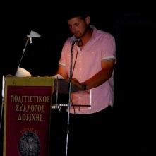 Στάυρος Θεοδωράκης, εκπρόσωπος Πολιτιστ. Συλλόγου