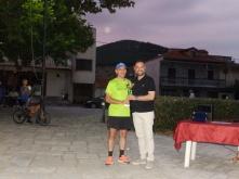 Σκορδάς Αθανάσιος (Κοζάνη), κατέλαβε την 3η θέση με χρόνο 18:23,34, βράβευση από τον βουλευτή Λάρισας Γιώργο Κατσιαντώνη